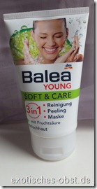Balea Young Soft & Care  3 in 1 mit Fruchtsäure